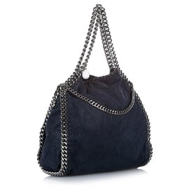 Stella Mc Cartney-Stella McCartney Blue Falabella Fold-Over Tote Bag-Blue
