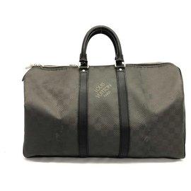 Louis Vuitton-Keepall Damier en fibre de carbone 45 Sac de sport Carbone-Autre