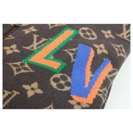 Louis Vuitton-Men's XL NBA 2 Monogram Patches Zip Up Blouson Sweater Jacket-Other