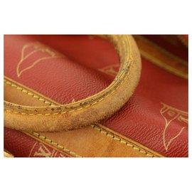 Louis Vuitton-1995 LV Cup Red Sac Marin Keepall Bandouliere Duffle Strap Bag-Autre