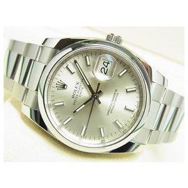 Rolex-ROLEX Oyster PERPETUAL date silver 115200 21 receipt Mens-Silvery