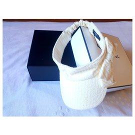 Chanel-Chanel visor visor-White,Yellow