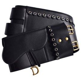 Dior-Saddle Belt w/full package-Black