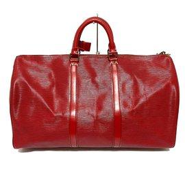 Louis Vuitton-Louis Vuitton Keepall 50-Rouge