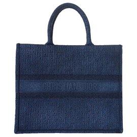 Dior-Dior Book Tote Denim-Dark blue