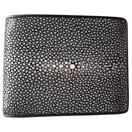 Autre Marque-Black stingray wallet-Black
