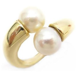 Cartier-YOU AND ME CARTIER RING SIZE 55 PEARLS & YELLOW GOLD 18K YELLOW GOLD PEARLS RING-Golden