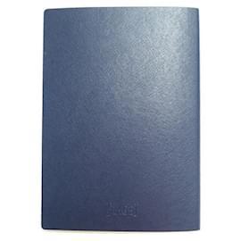 Piaget-NEW PIAGET WATCH NOTEBOOK NOTEBOOK BLOCK NOTES GOLDEN SLICE NOTE HOLDER-Navy blue
