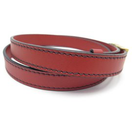 Christian Dior-NEW CHRISTIAN DIOR D-FENCE T BELT80 IN RED LEATHER NEW RED LEATHER BELT-Red