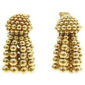 Chanel-CHANEL DROP EARRINGS IN YELLOW GOLD 18K 36.7GR TASSLE DROP EARRINGS-Golden