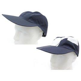 Hermès-NEW HERMES ROGER REVERSIBLE CAP 182031N IN NAVY BLUE SILK SILK CAP-Navy blue