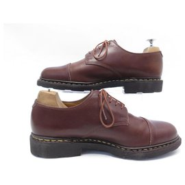 Paraboot-PARABOOT BERBY AZAY SHOES 7.5 41.5 BROWN LEATHER SHOES-Brown