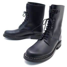 Heschung-NEW HESCHUNG BOOTS SERGEANT 7.5 41.5 BLACK LEATHER BOOTS SHOES-Black