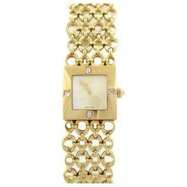 Christian Dior-CHRISTIAN DIOR WATCH 20MM YELLOW GOLD 18K 73 Gr DIAMONDS GOLD DIAMOND WATCH-Golden