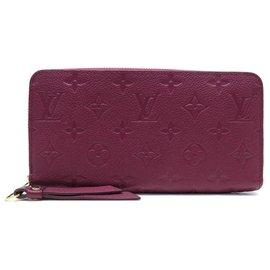 Louis Vuitton-NEW LOUIS VUITTON ZIPPY MONOGRAM LEATHER WALLET PURPLE WALLET-Purple