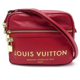 Louis Vuitton-NEUF SAC A MAIN LOUIS VUITTON CUBE FLIGHT PANAME TAKEOFF BAG M45508 BANDOULIERE-Rouge