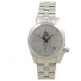 Christian Dior-DIOR MEN'S WATCH RED NUMBER 084511 automatic 36 MM STEEL WATCH-Silvery