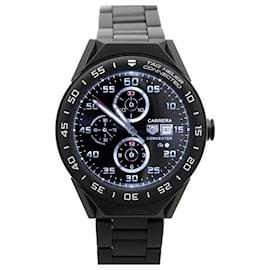 Tag Heuer-NEW TAG HEUER CONNECTED MODULAR SBF WATCH8to8013 45MM BLACK TITANIUM + BOX-Black