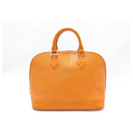 Louis Vuitton-HANDBAG LOUIS VUITTON ALMA PM LEATHER IN EPI ORANGE LEATHER HAND BAG-Orange