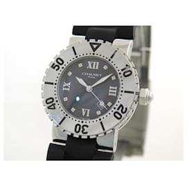 Chaumet-CHAUMET CLASS ONE WATCH 628 automatic 36 MM STEEL + CASE STEEL WATCH-Silvery
