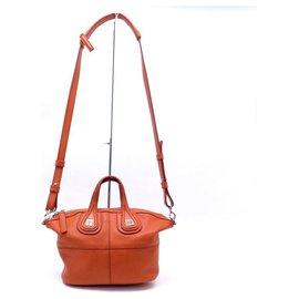 Givenchy-GIVENCHY NIGHTINGALE MICRO BANDOULIERE IN ORANGE LEATHER HANDBAG-Orange