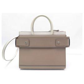 Givenchy-GIVENCHY HORIZON PM BB HANDBAG500RB035 BEIGE LEATHER HAND BAG-Beige
