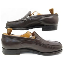 JM Weston-JM WESTON LOAFERS 180 9.5D 43.5 BROWN LEATHER LOAFERS SHOES-Brown