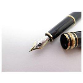 Montblanc-MONTBLANC MEISTERSTUCK CLASSIC GOLDEN FEATHER PEN 106514 BLACK PEN CARTRIDGE-Black