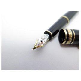Montblanc-VINTAGE FOUNTAIN PEN MONTBLANC MEISTERSTUCK CLASSIC GOLD 106514 BLACK PEN-Black