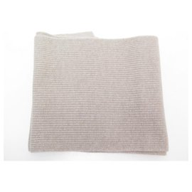 Eric Bompard-NEW ERIC BOMPARD SCARF WITH ENGLISH SIDES 4 AK Threads221 IN CASHMERE SCARF-Beige