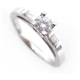 Mauboussin-NINE MAUBOUSSIN RING LA COURTISANE N 2 47 WHITE GOLD AND DIAMONDS RING BOX-Silvery
