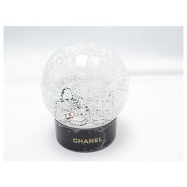 Chanel-NEW CHANEL SNOW BALL CC LOGO GLASS SHOPPING BAG + NEW SNOW BALL BOX-Other