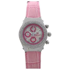 Technomarine-TECHNOMARINE TECHNODIAMOND WATCH 37 MM QUARTZ STEEL DIAMONDS +2 Bracelets-Pink