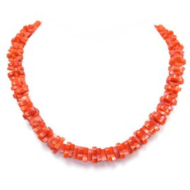 Louis Vuitton-NEW LOUIS VUITTON TROPICAL FLOWERS MP NECKLACE1964 IN RED RESIN NECKLACE-Red