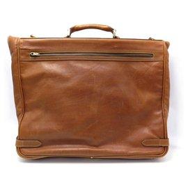Church's-CHURCH'S TRAVEL BAG CLOTHING RACK BROWN GRAIN LEATHER SUITS-Brown