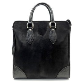 Louis Vuitton-LOUIS VUITTON WHISTLER M HANDBAG95247 FLY SAIL, TRAVEL POULAIN LEATHER-Black