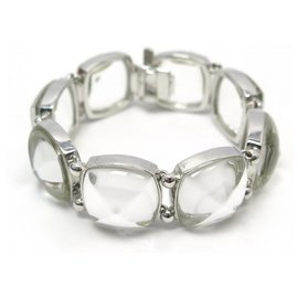 Baccarat-BACCARAT MEDICIS T BRACELET19 IN CRYSTAL AND SILVER + CRYSTAL SILVER JEWEL BOX-Other
