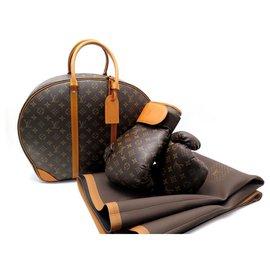 Louis Vuitton-NEW LOUIS VUITTON SPORTS BAG + MONOGRAM M BOXING GLOVES40241 KARL LAGERFELD-Brown