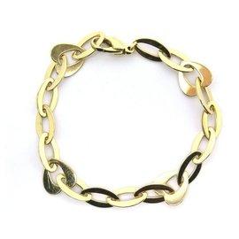 Fred-FRED HEART MESH BRACELET & T RINGS20 In yellow gold 18K 18GR + GOLD BOX-Golden