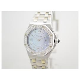 Audemars Piguet-AUDEMARS PIGUET ROYAL OAK WATCH 67151BC OR 18K DIAMONDS MOTHER OF PEARL-Silvery