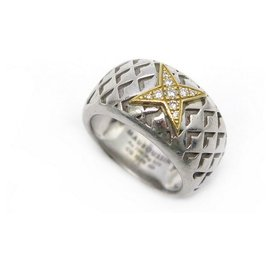 Mauboussin-MAUBOUSSIN RING MY NEW STAR C EST YOU T51 IN SILVER YELLOW GOLD DIAMONDS-Silvery