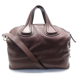 Givenchy-NEW GIVENCHY NIGHTINGALE MEDIUM BB HANDBAG05097025 leather shoulder strap-Brown