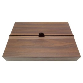 Hermès-NEW STRAIGHT MAIL BOX STRAIGHT LINE WOODEN ROSEWOOD TIE LEATHER BOX HAVANA-Brown