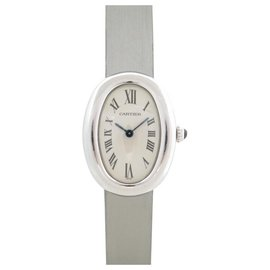 Cartier-CARTIER TUB WATCH PM 31 MM IN WHITE GOLD QUARTZ WHITE GOLD WATCH-Silvery
