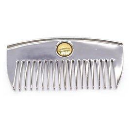 Hermès-NEW COMB HERMES CLOU SELLIER IN SILVER TIN NEW TIN SILVER COMB HAIR-Silvery