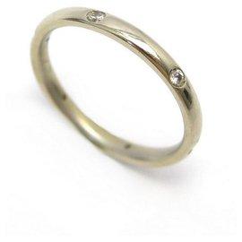 Pomellato-POMELLATO LUCCIOLE RING A.to104SB2 T56 in white gold 18K 6 DIAMONDS RING-Silvery