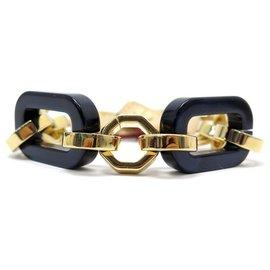 Louis Vuitton-NEUF BRACELET LOUIS VUITTON CHAINE 23 CM EN METAL DORE NEW GOLDEN JEWEL-Doré