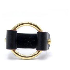 Louis Vuitton-NEW LOUIS VUITTON BRACELET T RING 16 CM IN BURGUNDY & GOLD CROCODILE LEATHER-Dark red