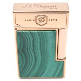 St Dupont-NEW LIGHTER ST DUPONT TALISMAN IN GREEN MALACHITE ROSE GOLD LIMITED EDITION-Green
