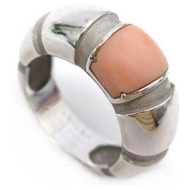 Mauboussin-MAUBOUSSIN NADJA T RING51 White gold rush 18K 10.4GR PIERRE ROSE GOLD RING-Silvery